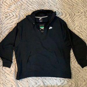 NEW! Women's XL Lace Neck Nike Hooded Sweatshirt